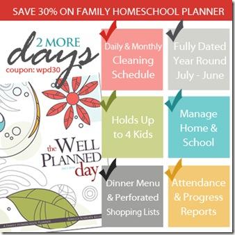 30% off Well Planned Day Planners!