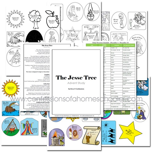 picture about Jesse Tree Ornaments Printable identify The Jesse Tree Cost-free Printable - Confessions of a Homeschooler