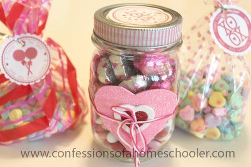 DIY Valentine Candy Jar Gift
