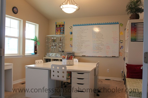 Anatomy of a Homeschooling Room