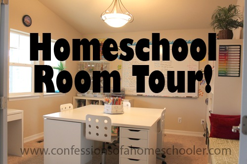 Updated Homeschool Room Tour!
