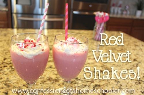 Red Velvet Milk Shakes!