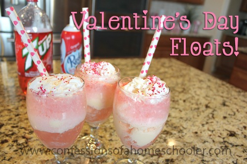 Valentine's Day Ice Cream Floats!