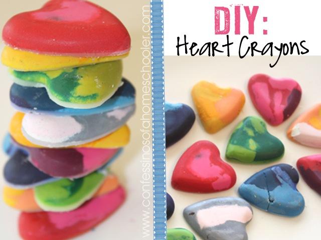 DIY Crayons: Valentine's Day Hearts!