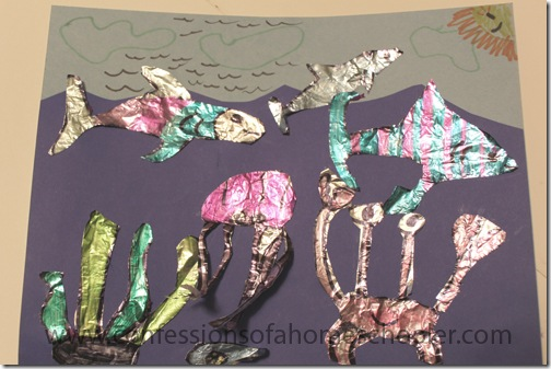 Foil fish kids craft confessions of a homeschooler for Tin foil fish