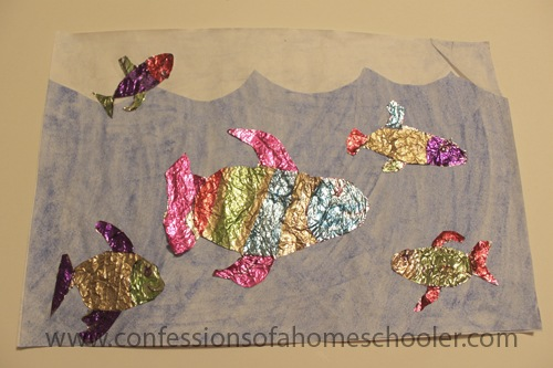 Foil Fish Kids Craft