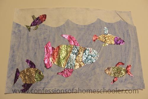 Foil Fish Kids Craft