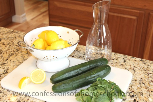 Cucumber, Lemon & Mint H2O Recipe