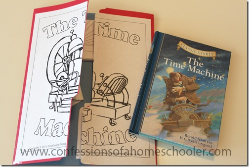 time machine lapbook