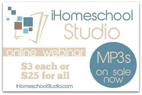 iHomeschool Studio MP3's on Sale now!