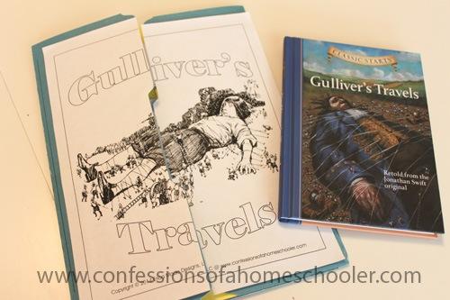 Gulliver's Travels Literature Unit Study & Lapbook