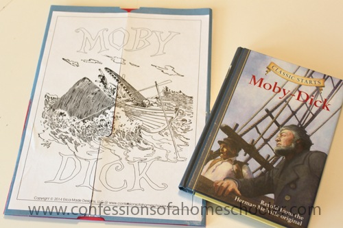 Moby Dick Literature Unit and Lapbook