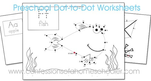 picture about Preschool Dot to Dot Printable titled Preschool Dot-toward-Dot Worksheets - Confessions of a Homeschooler