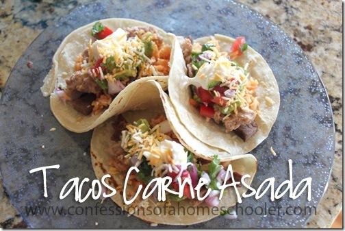 Easy Tacos de Carne Asada