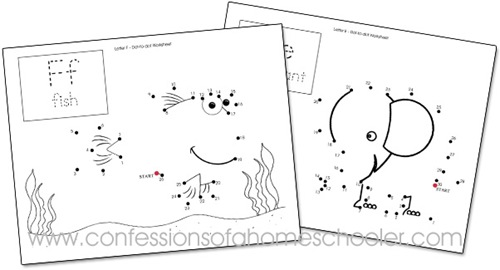 Number Names Worksheets dot to dot kindergarten : Kindergarten Dot-to-Dot Worksheets - Confessions of a Homeschooler