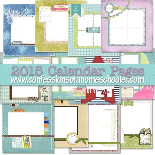 2015 Calendar Page Templates