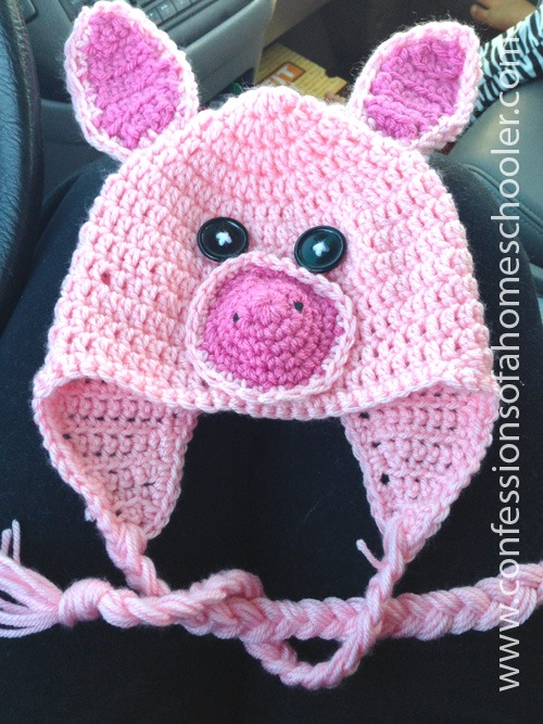 Crochet Pig Hat Tutorial - Confessions