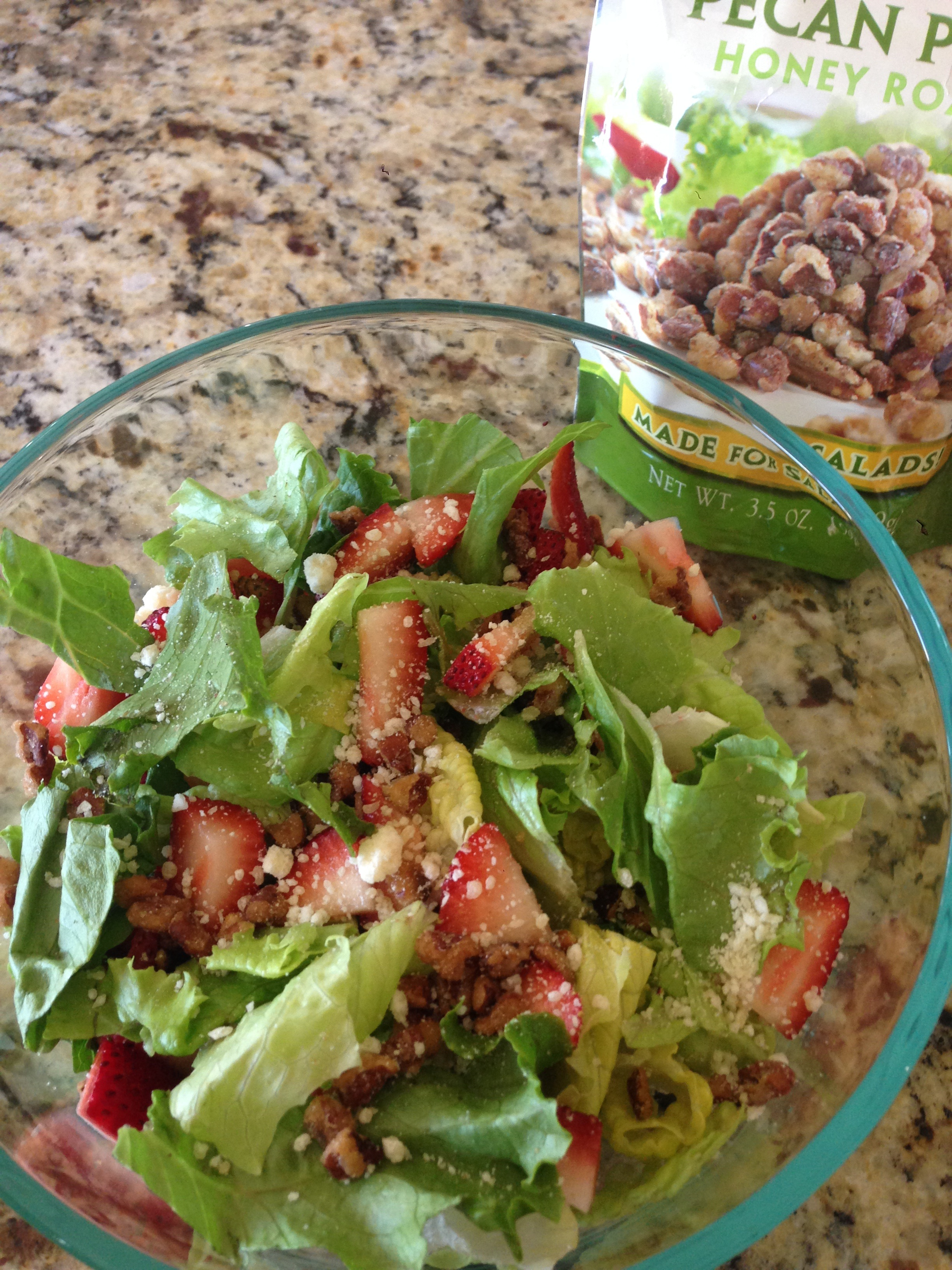 Strawberry, Pecan, Feta Salad Recipe