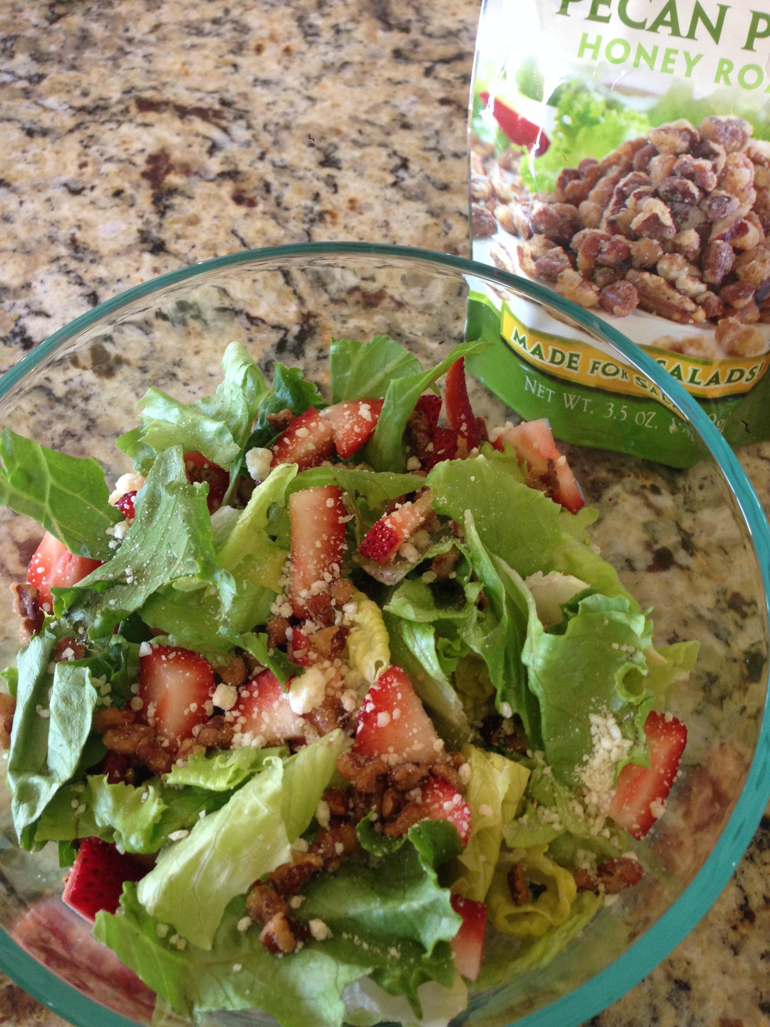 Strawberry, Pecan, Feta Salad Recipe