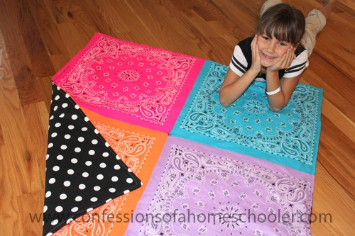 DIY Bandana Quilt Tutorial