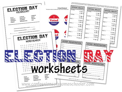 Election Day Worksheets for Kids