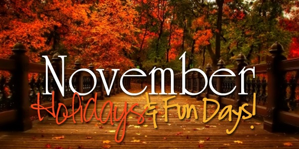 November Holidays & Fun Days 2014