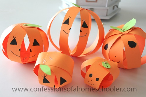 Paper Pumpkin Fall Craft Idea