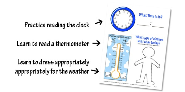 math worksheet : kindergarten daily learning notebook  confessions of a homeschooler : Thermometer Worksheets For Kindergarten