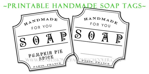 Comprehensive image throughout free printable soap labels template