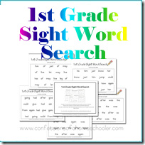 1stgradesightwordsearch