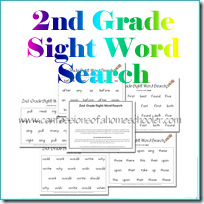Sight Word Printable Worksheets - Confessions of a Homeschooler