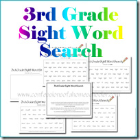 3rdgradesightwordsearch