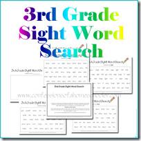 3rdgradesightwordsearch