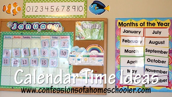 Calendar Bulletin Board Setup Use Confessions Of A Homeschooler