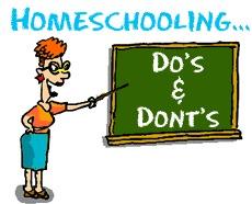 Homeschooling Do's & Don'ts!