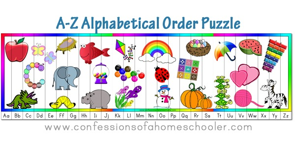 A Zalphabeticcalorderpuzzle Promo on 2015 1st grade homeschool schedule