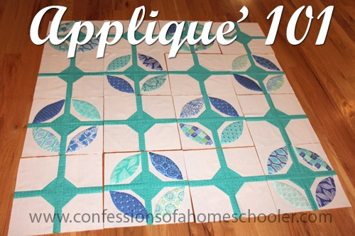 How To Applique' 101 – WIP Wednesday