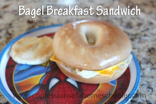 Ham, Egg, & Cheese Bagel Breakfast Sandwich