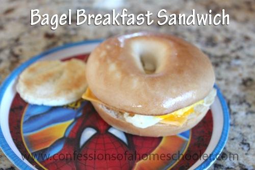 Ham, Egg, & Cheese Bagel Breakfast Sandwich