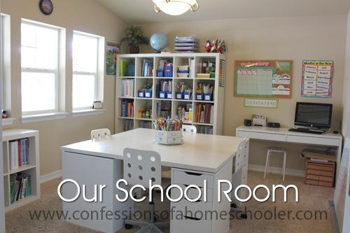Updated Homeschool Room Tour