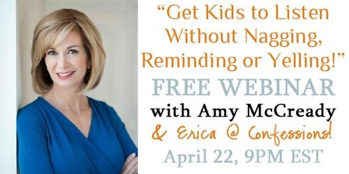 FREE Parenting Webinar–TONIGHT!!
