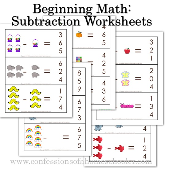 Printables Beginning Math Worksheets k4 kindergarten beginning math subtraction worksheets beginningmathsubt promo download the worksheets