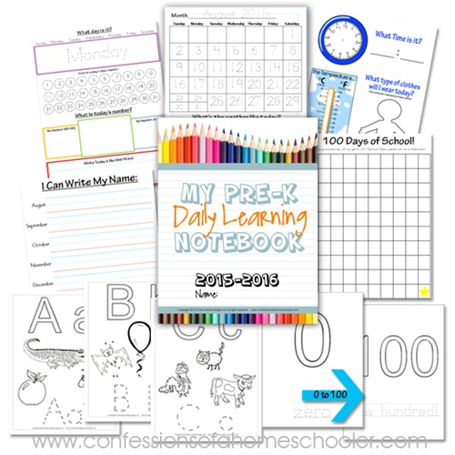 Kindergarten Calendar Notebook : Preschool daily learning notebook confessions