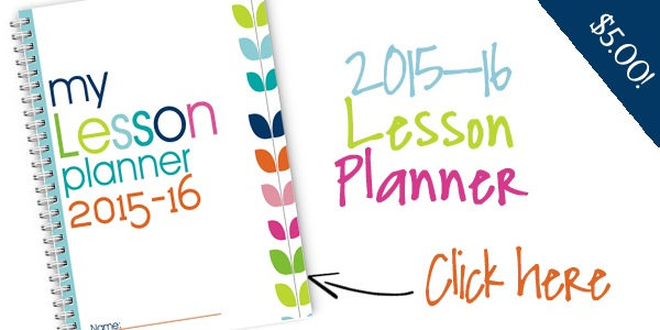 2015-2016 Homeschool Lesson Planner