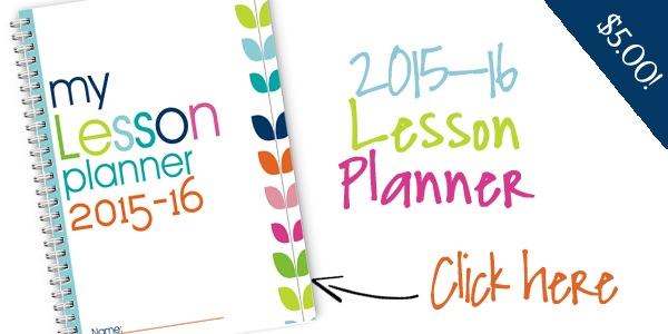 2015-2016 Homeschool Lesson Planner