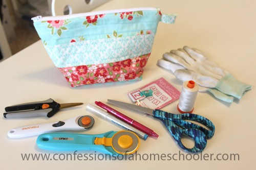 Quilted Zipper Pouch Sewing Tutorial 2