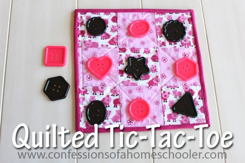 Quilting 101: Quilted Tic-Tac-Toe Board