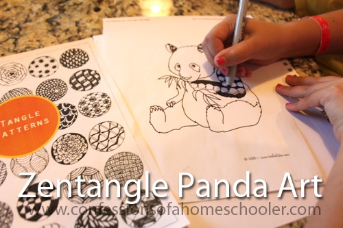 Zentangle Panda Art