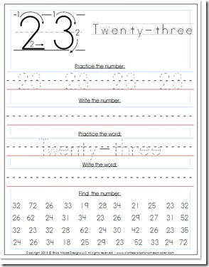 Number Names Worksheets tracing numbers 1-100 worksheets : 0-100 Kindergarten–1st Grade Number Writing Practice - Confessions ...