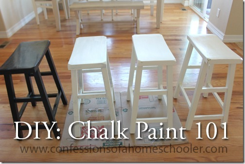 Diy Chalk Paint 101 Confessions Of A Homeschooler